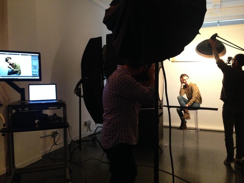 Mark Mann shooting Keri Russell (The Americans)