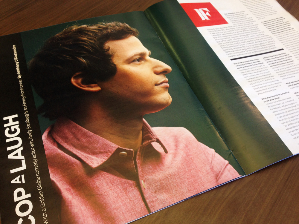 Andy Samberg (Brooklyn Nine-Nine) photographed by J.R. Mankoff