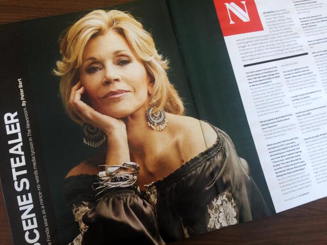 Jane Fonda (The Newsroom) photographed by J.R. Mankoff