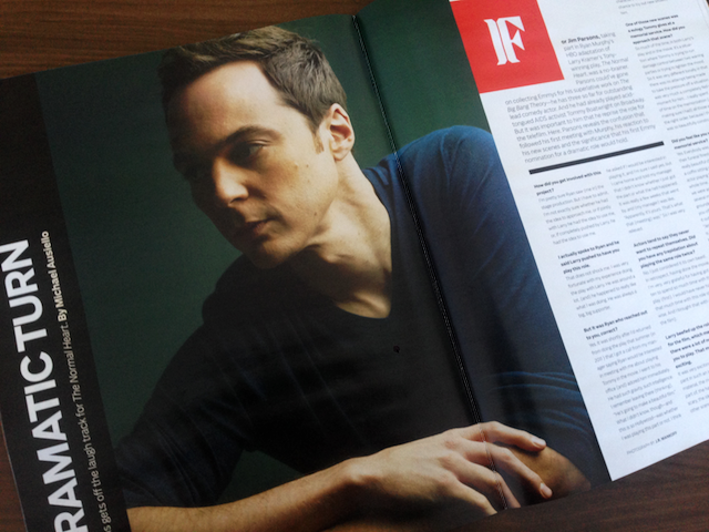 Jim Parsons (The Normal Heart) photographed by J.R. Mankoff