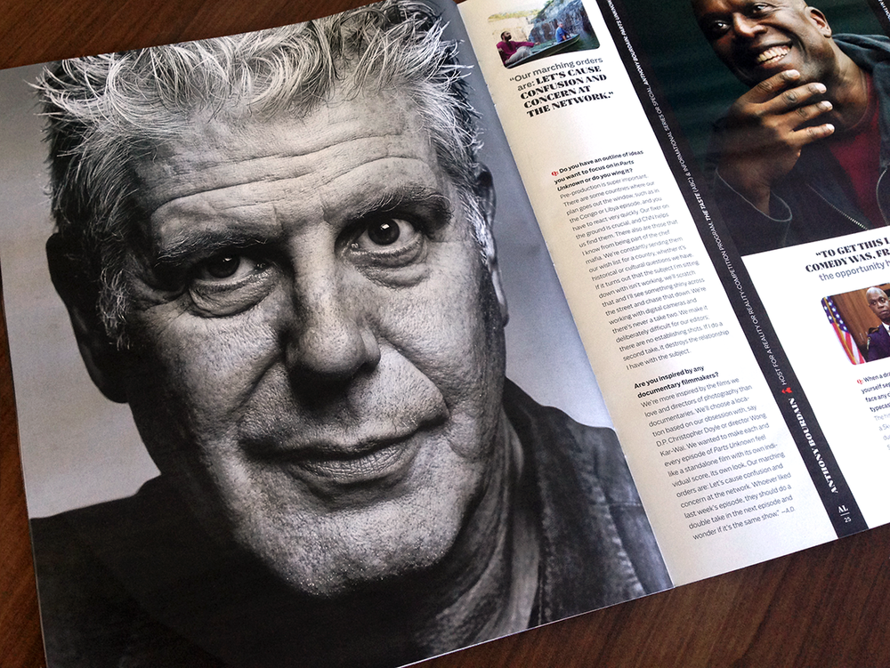 Anthony Bourdain (Parts Unknown) photographed by Mark Mann