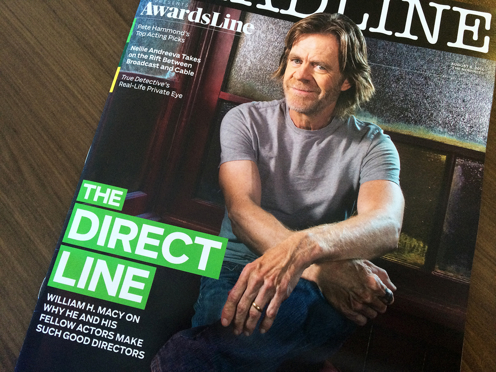 William H. Macy on the set of Shameless, photographed by Michael Lewis
