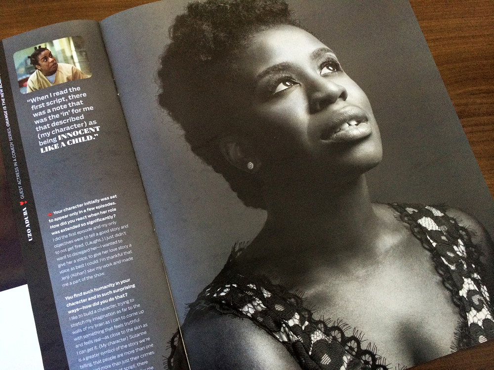 Uzo Aduba (OITNB), photographed by Mark Mann