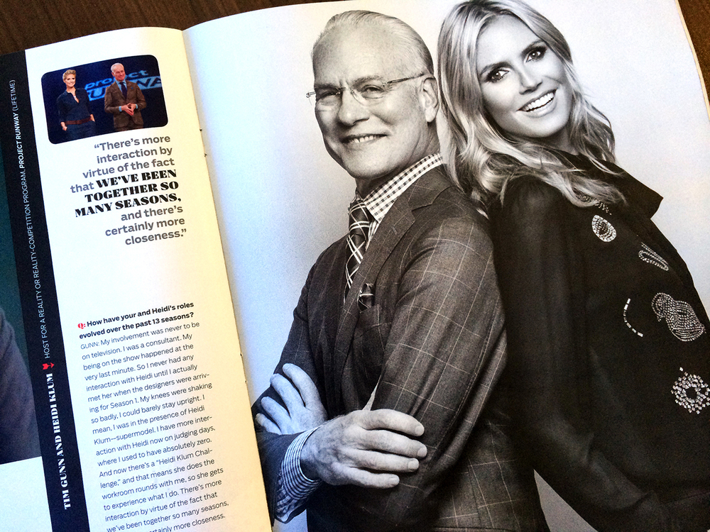 Tim Gunn and Heidi Klum (Project Runway), photographed by Mark Mann