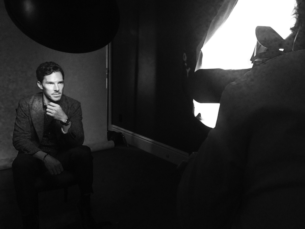 Benedict Cumberbatch (The Imitation Game) with Mark Mann