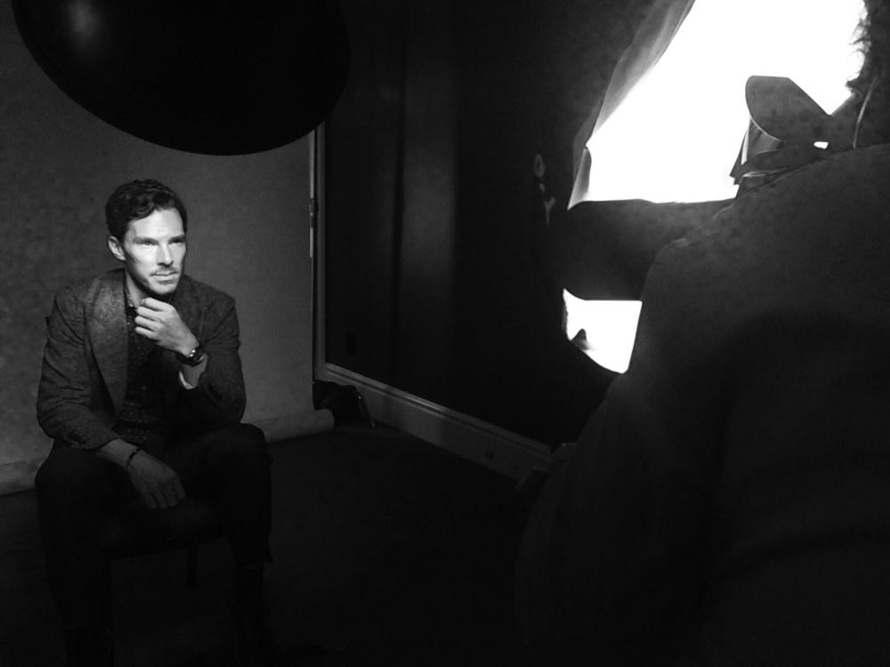 Benedict Cumberbatch (The Imitation Game) with Mark Mann