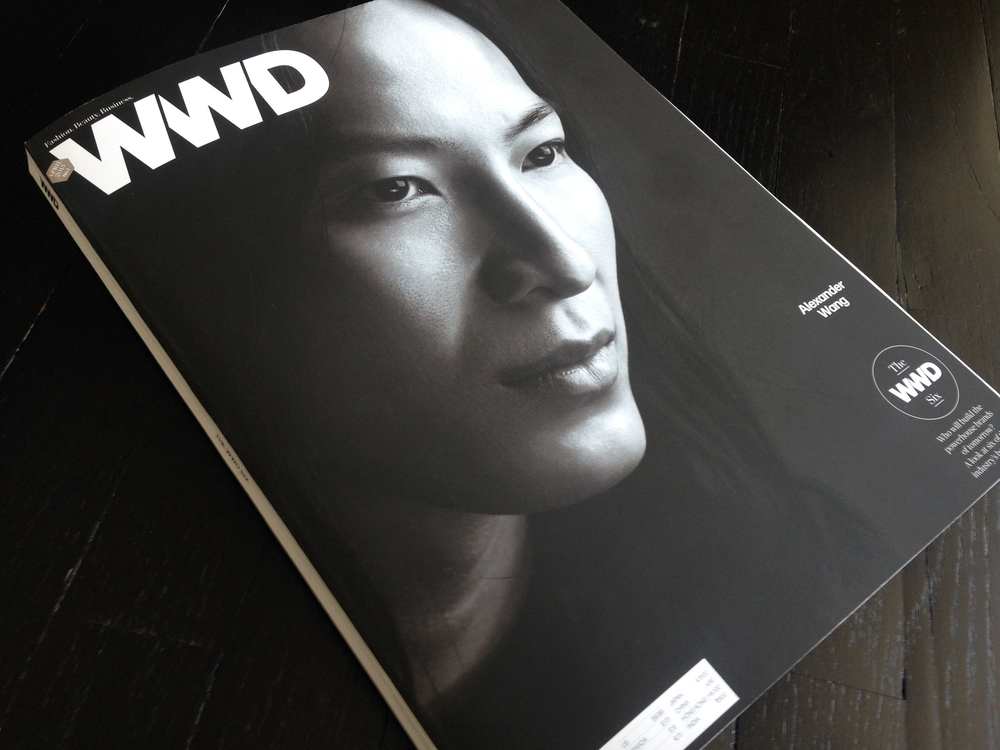 Alexander Wang on cover A of a split-run. Photograph by Nigel Parry.