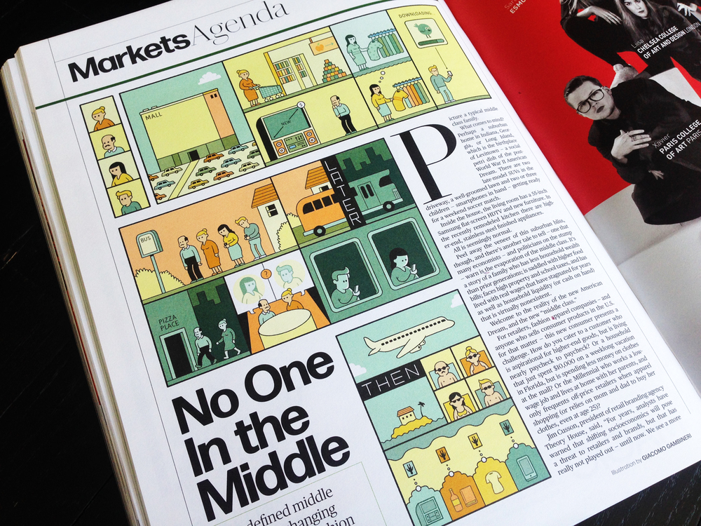 Agenda Markets opener, illustration by Giacomo Gambineri