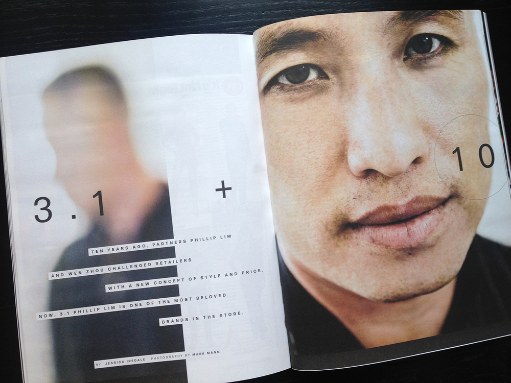 Phillip Lim, photographed by Mark Mann. Layout by Christa Guerra