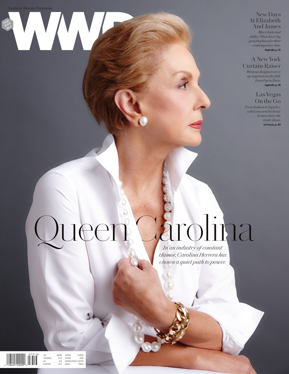 Carolina Herrera photographed by Nigel Parry