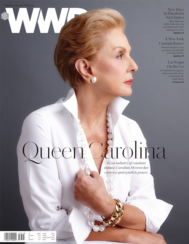 Carolina Herrera photographed by Nigel Parry in her New York office.