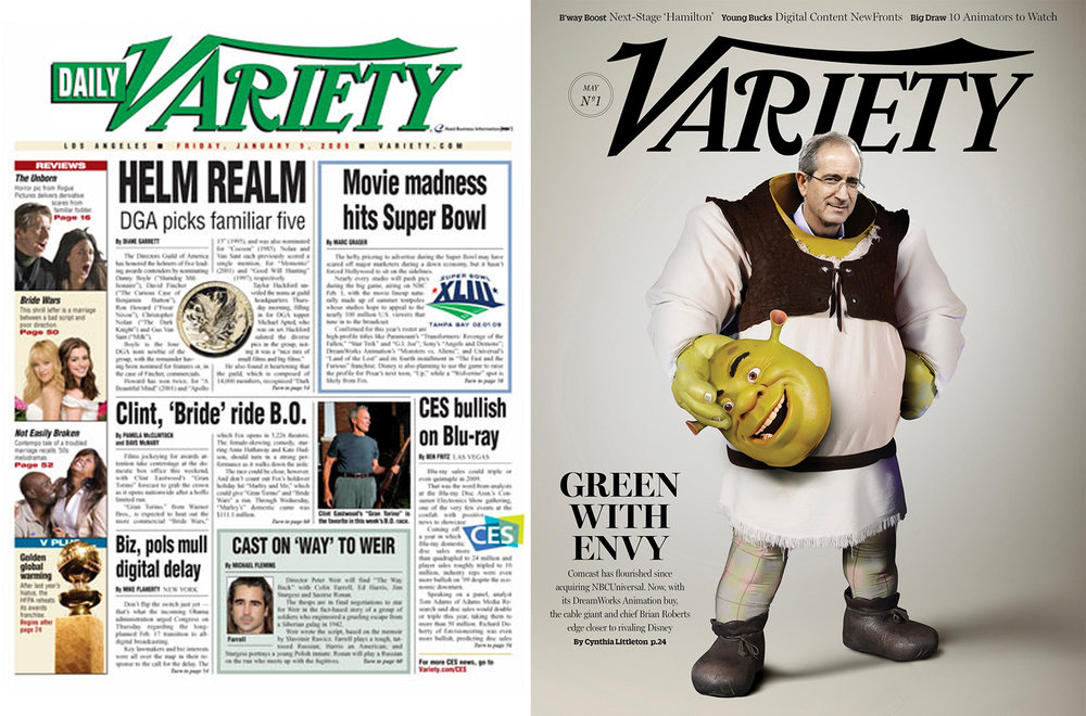 Previous logo (left) on the old daily edition and the newly redrawn logo (right) on the weekly magazine.