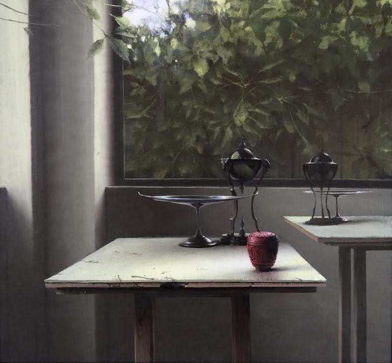 DANIEL SPRICK Still Life with Incense Burner, 2015 Oil on board 26 x 28 inches