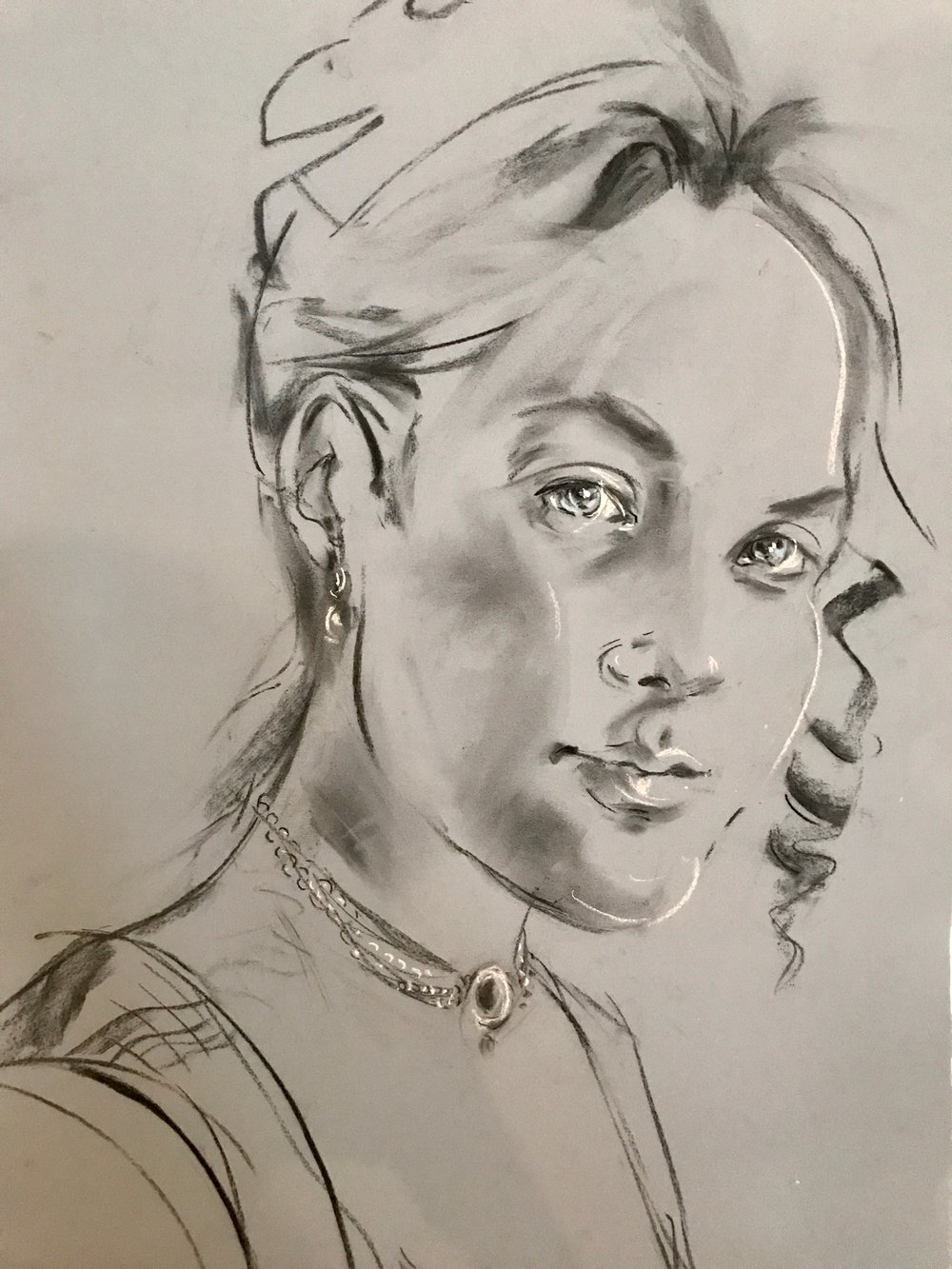 Susannah Sayre Stewart, the fourth wife of Capt. David Hand, as imagined by artist Sabrina Streeter.