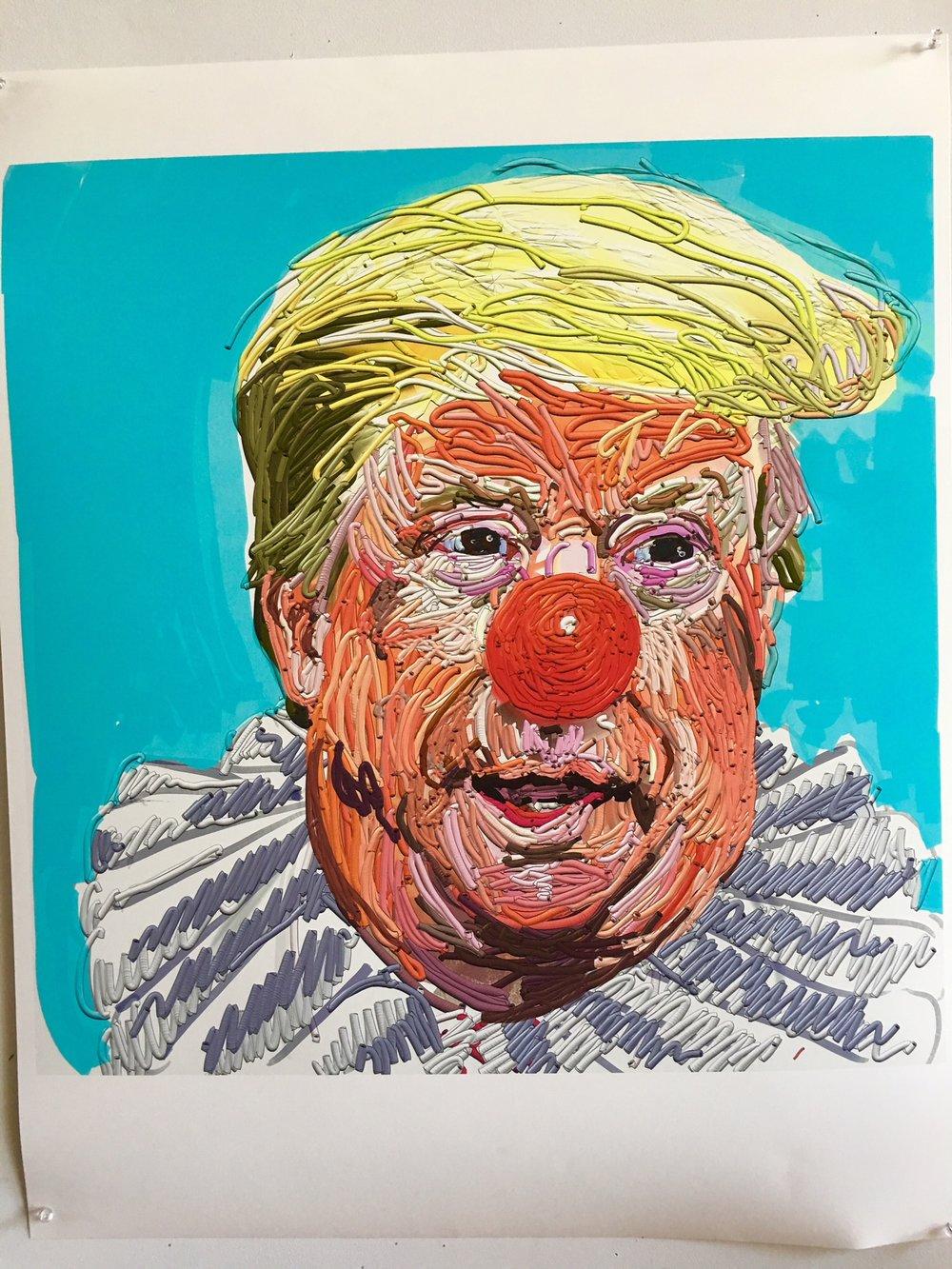 "Eric Fischl, ""Spaghetti Trump"", 2018"