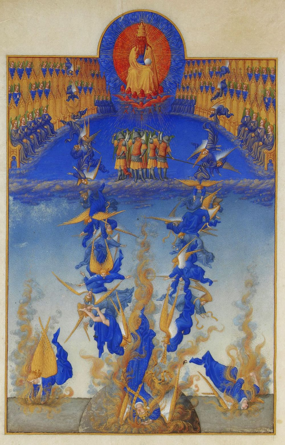 Limbourg Brothers,  La chute des anges rebelles  (via  Wikimedia Commons )