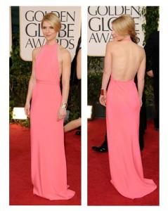 Claire Danes @ The Golden Globes, 2011 in Calvin Klein