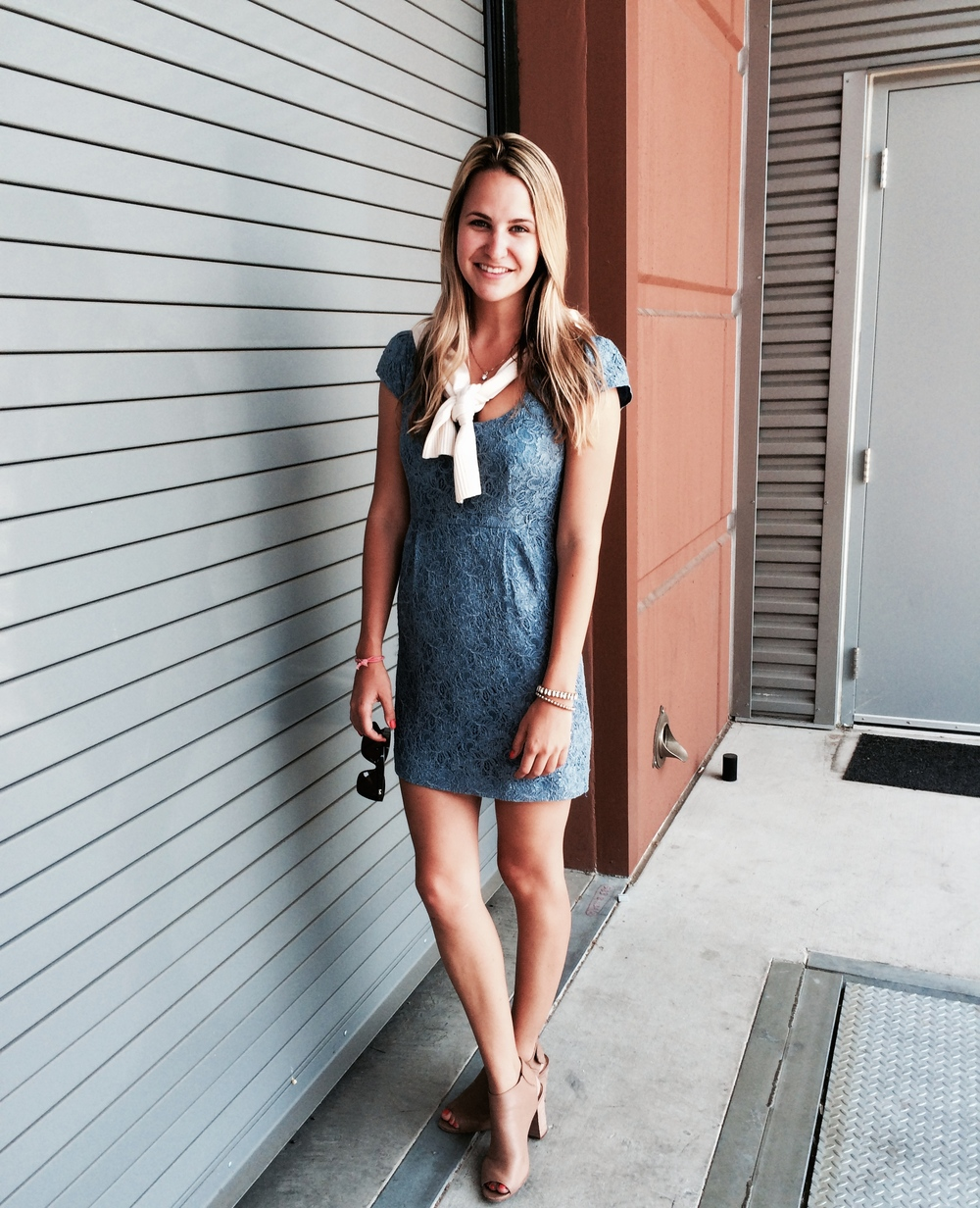 Cashmere Cardigan: J.Crew; Dress: Forever 21; Sandals: Steve Madden; Photos: Kristine Constantino www.linkedin.com/in/kristineconstantino