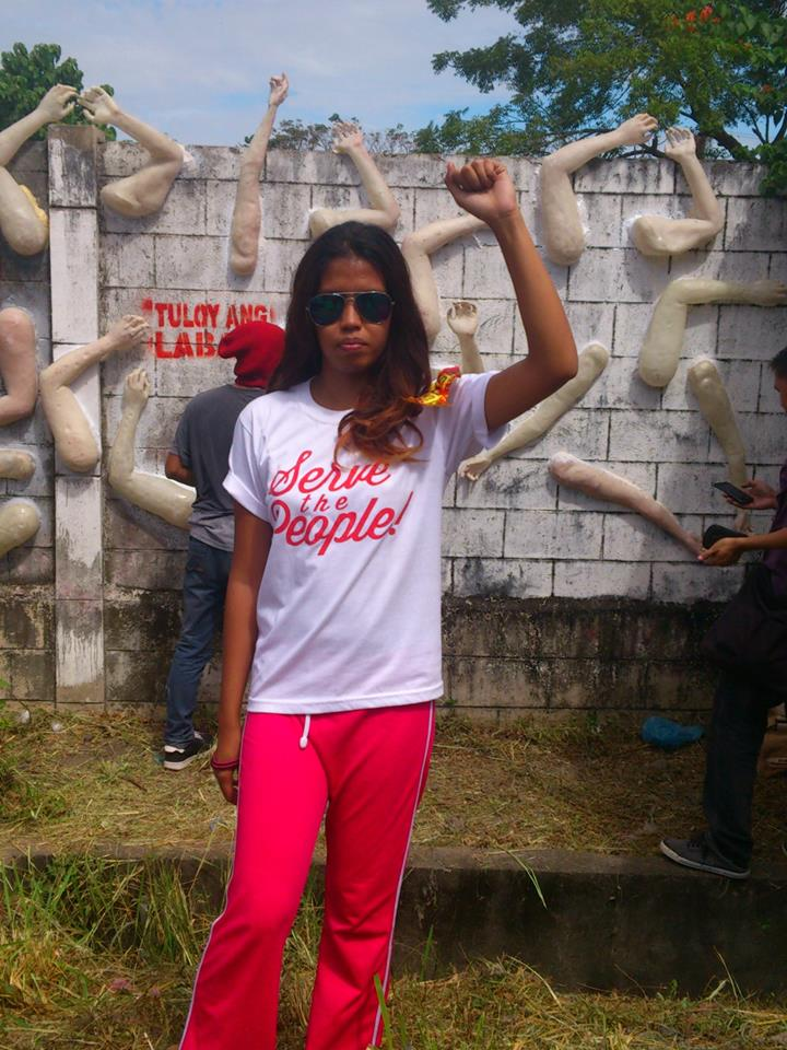 Seyra @ the 2015 10th Anniversary of Hacienda Luisita Massacre. Remembering the prior 7 activists that were killed, and the hundreds that were injured.