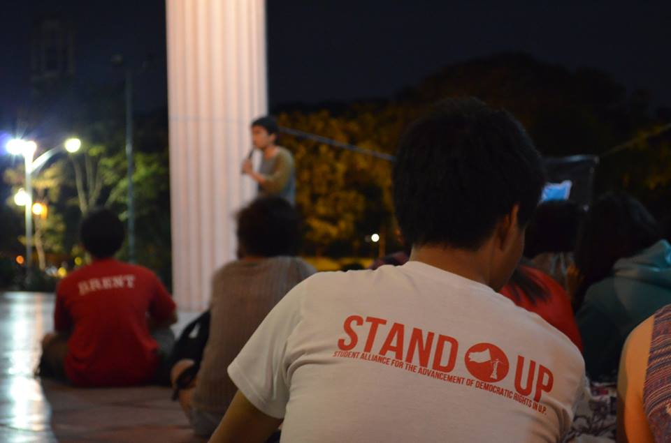 "2015 ""STAND UP"" rally against budget cuts in Philippines Universities"