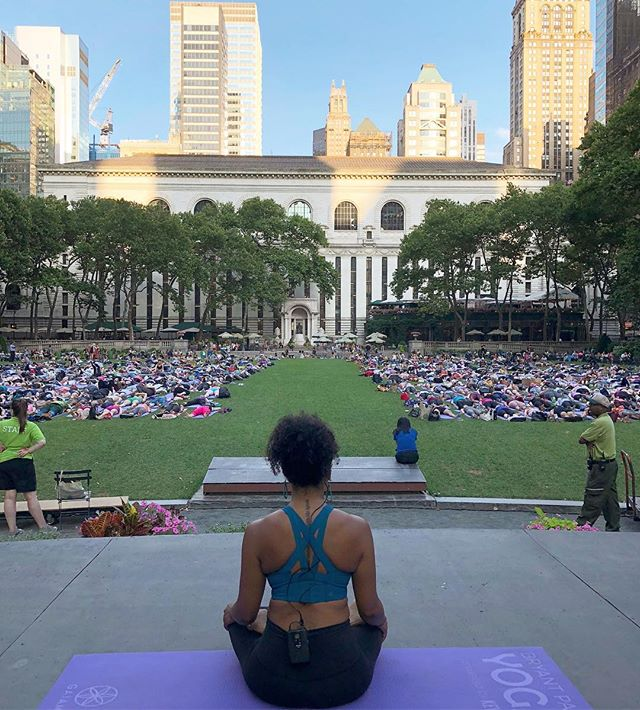 Tomorrow morning I have the honor of assisting the extremely talented @tanyaheartsyoga as she leads hundreds of yogis in a free class in Bryant Park. 10am! You can register online or walk on up, but get their early because it's sure to be packed! . . . . . . . #yogaforall #yogainbryantpark #freeyoga #yogisofcolor #aditiflow #flow#creativewellness #findyourflow
