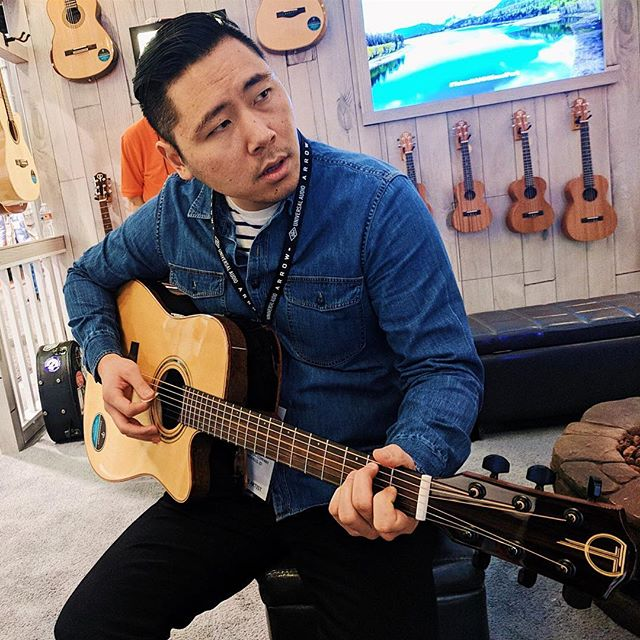 Had a blast playing some excellent @tetonguitars with my band @moonlitkitmusic at NAMM this weekend. . . . Photo credit: @kitnolan . #moonlitkit #namm #tetonguitars #acousticguitar