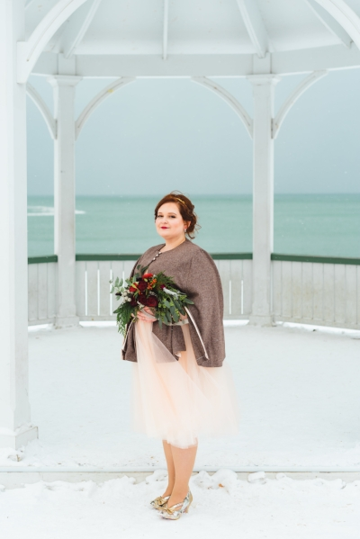 Our Bride Naomi in a Wool Cape creation