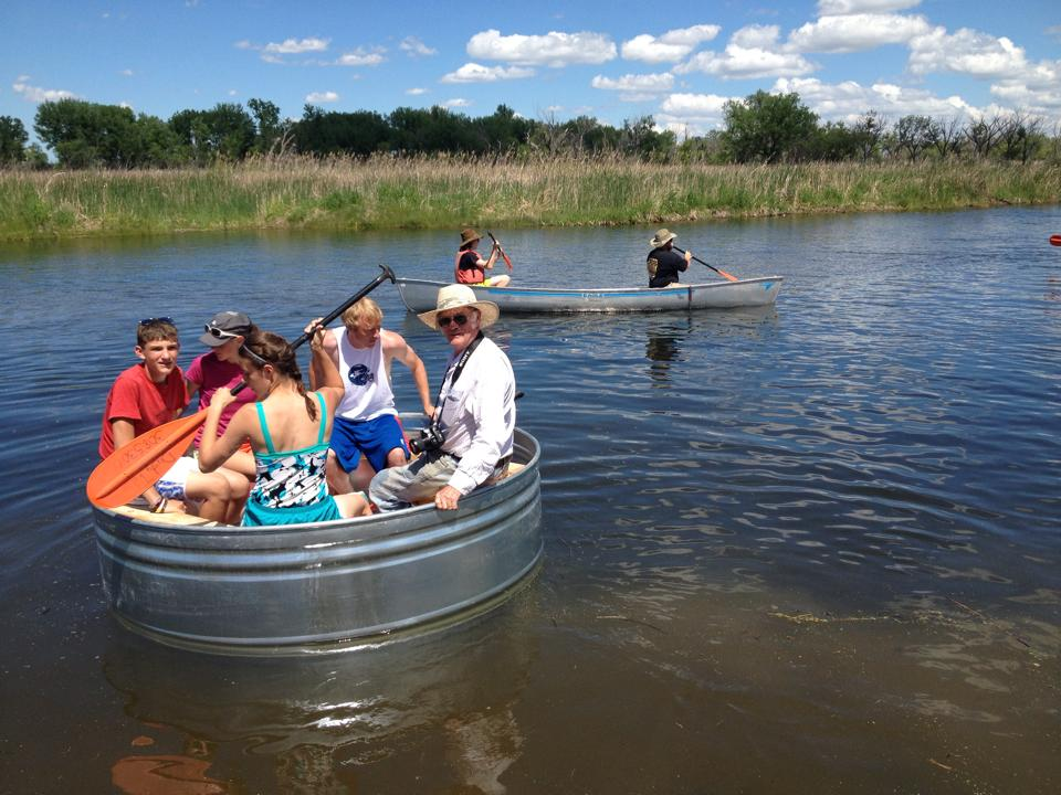 Tanking - A True Nebraska Experience! Where else can you float down the North Platte River in a stock tank?