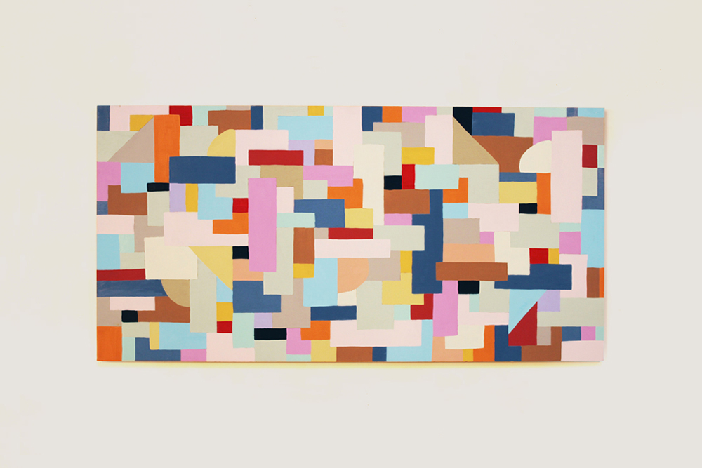 "Untitled, 2016  72"" x 36""Enamel on Wood Panel"