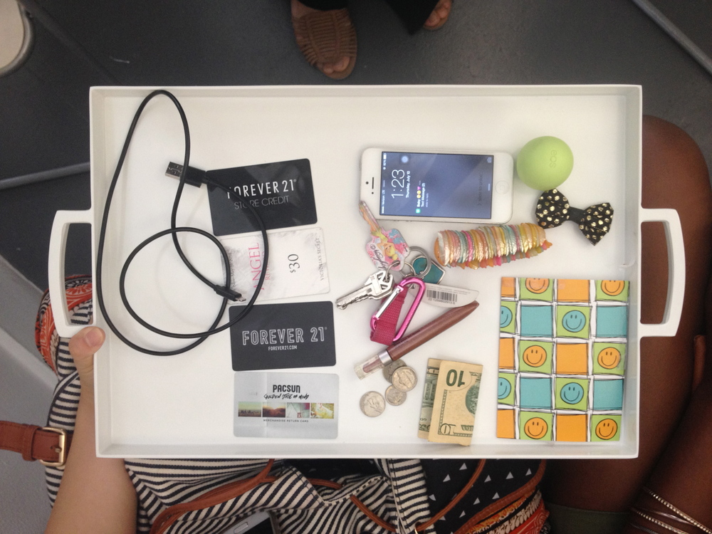For student project Pockets of New Haven, Artspace Summer Apprentices investigated how the everyday can reveal the personal by asking people to share the contents of their pockets. They photographed each participants pocket contents and displayed these images in a slideshow at the final exhibition.