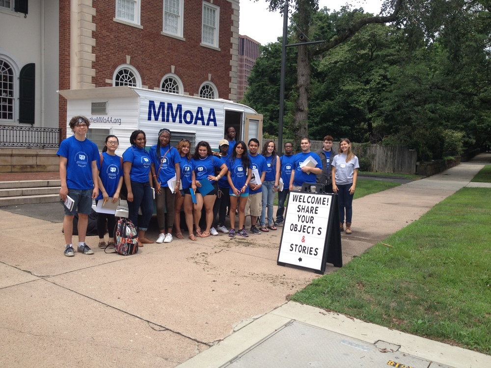 Artspace Summer Apprentices with MMoAA outside the New Haven Museum.
