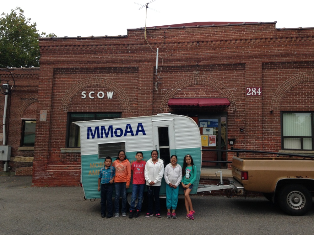 SCOW students check out the museum.