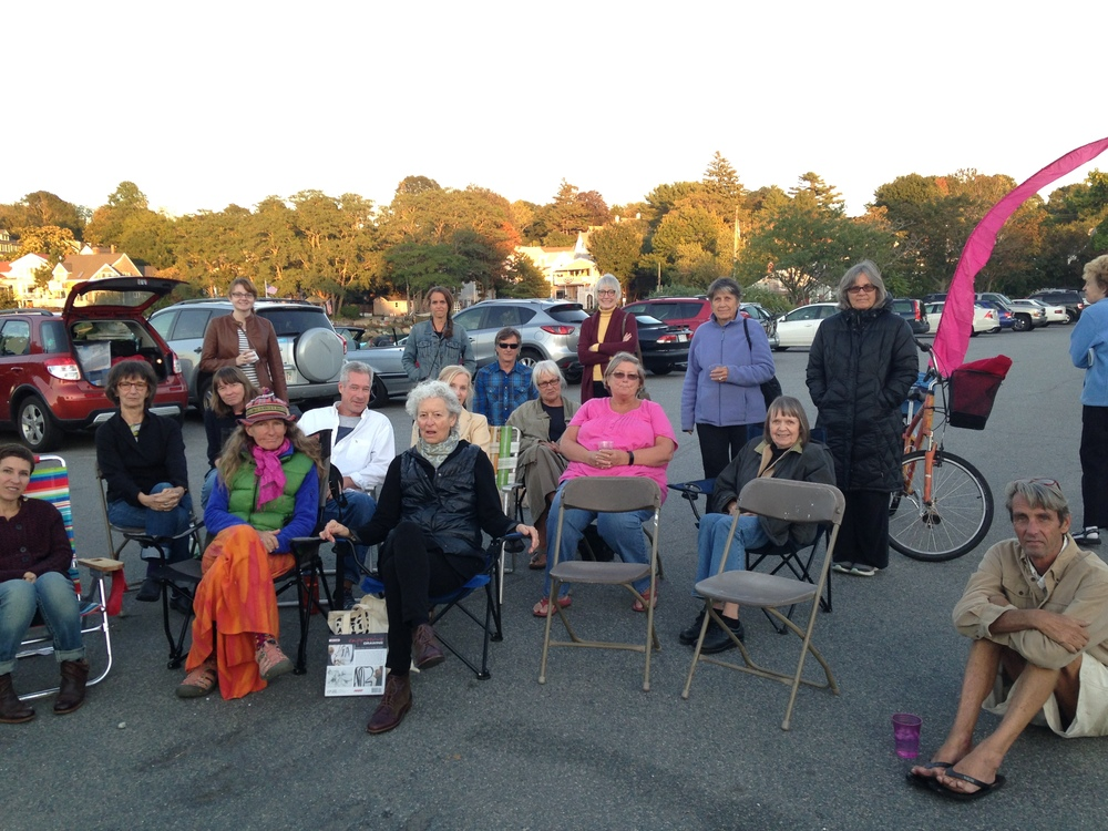 Final talk and closing reception in the Rocky Neck parking lot.