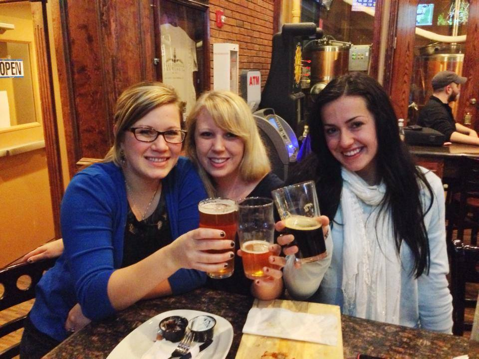 Some college ladies enjoying their Tuesday!!! Where's Jay?! Can you spot our brewer?