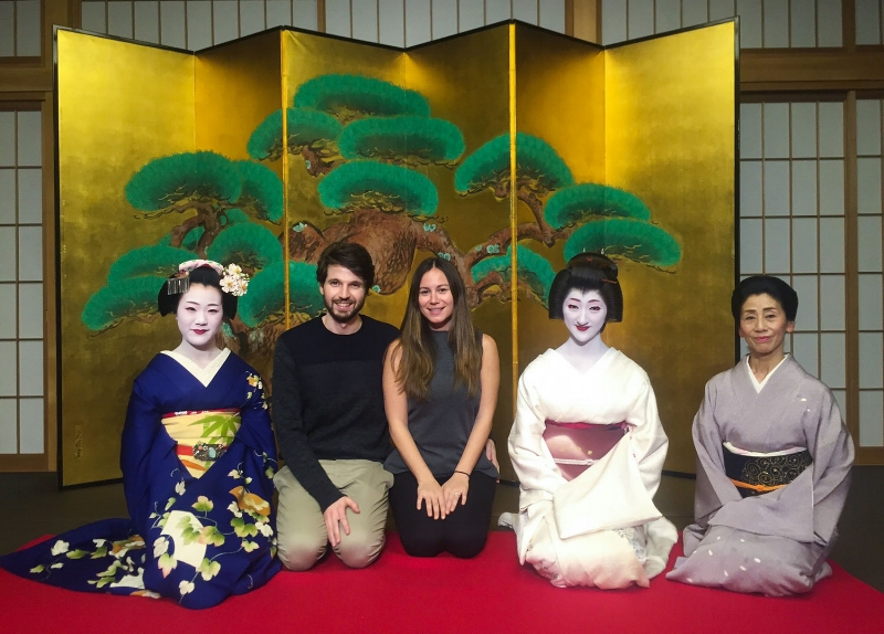 A night with a geisha & make in Kyoto
