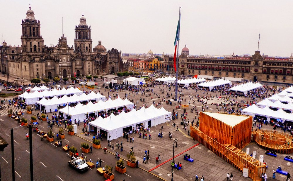 View of Templo Mayor from the Gran Hotel Ciudad de Mexico
