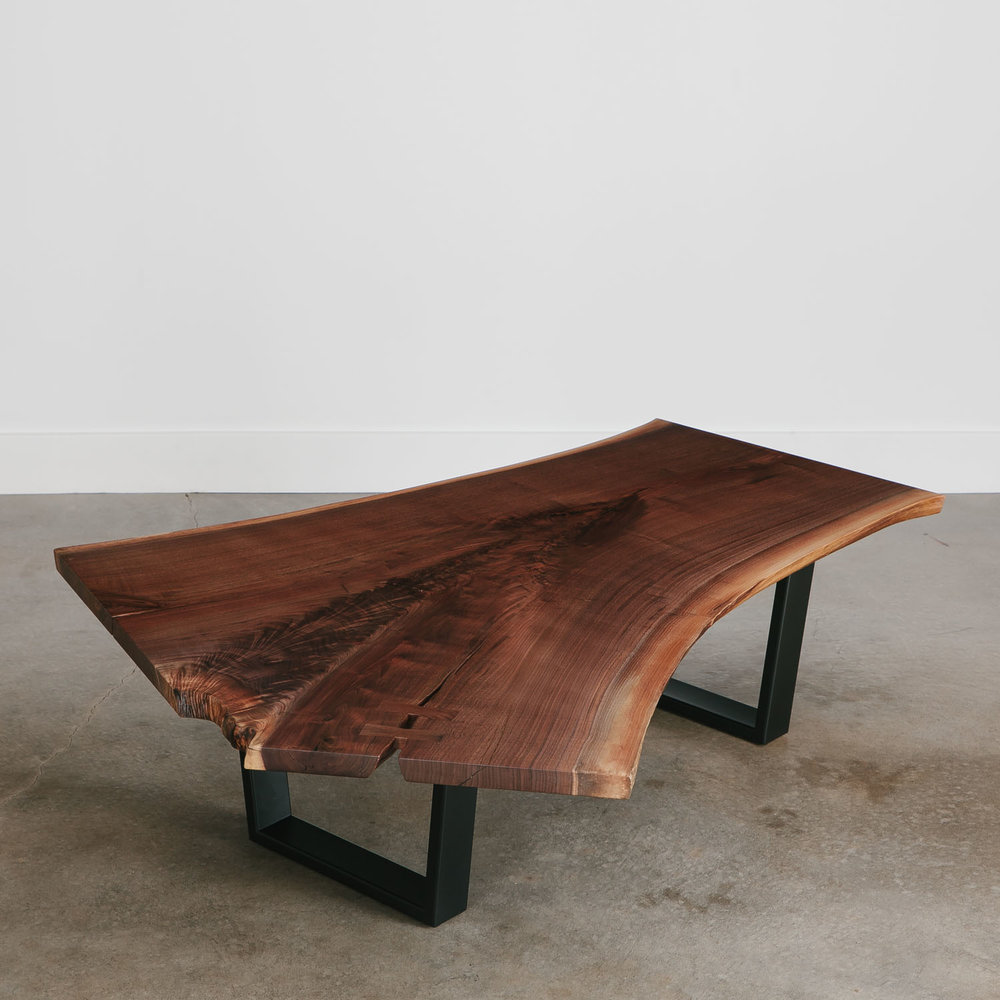 Superb Modern Walnut Coffee Table ...