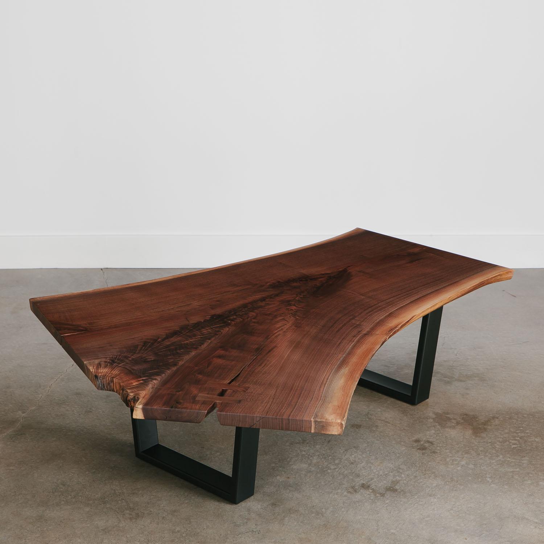 walnut coffee table  live edge furniture by elko hardwoods - modern walnut coffee table