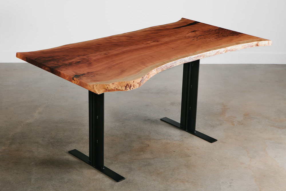 ... Modern Live Edge Cherry Bar Height Table ...