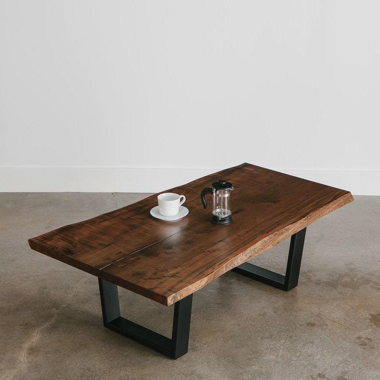 ebonized maple coffee table | live edge furnitureelko hardwoods