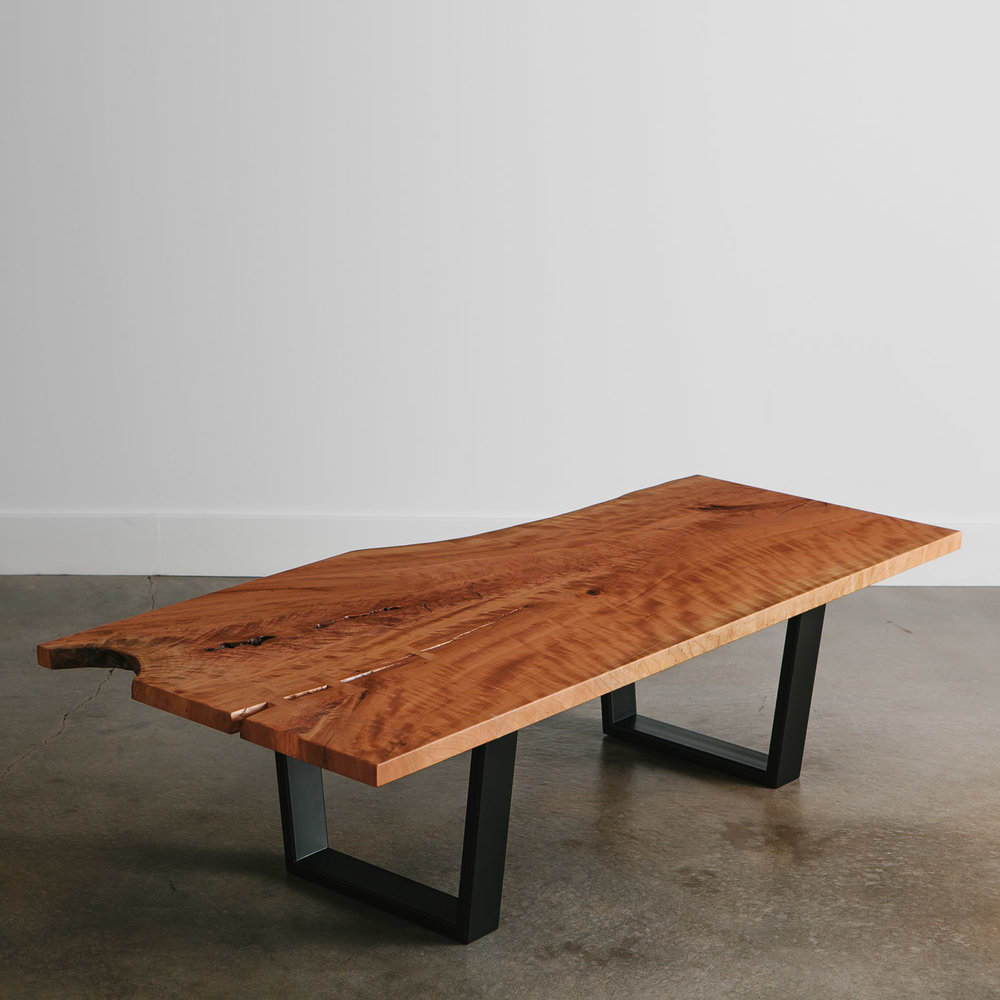 One Of A Kind Live Edge Cherry Coffee Table. Furniture
