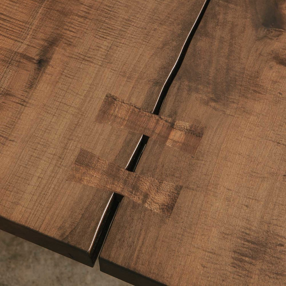 Butterfly joints a live edge design legacy live edge for Table joints