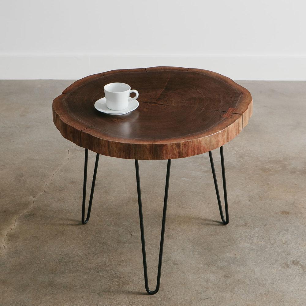 Modern Walnut Live Edge Side Table ...