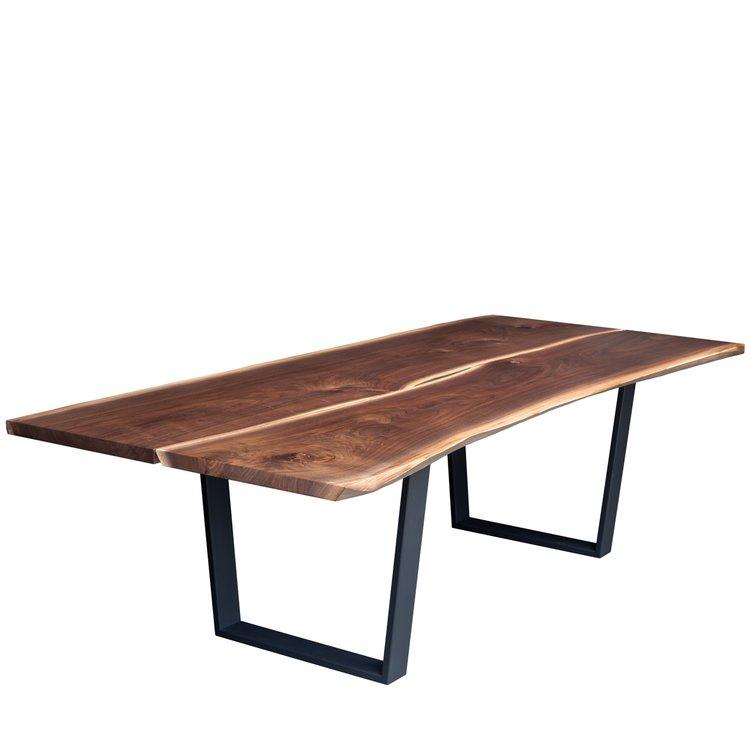 modern walnut live edge dining table - Walnut Dining Table