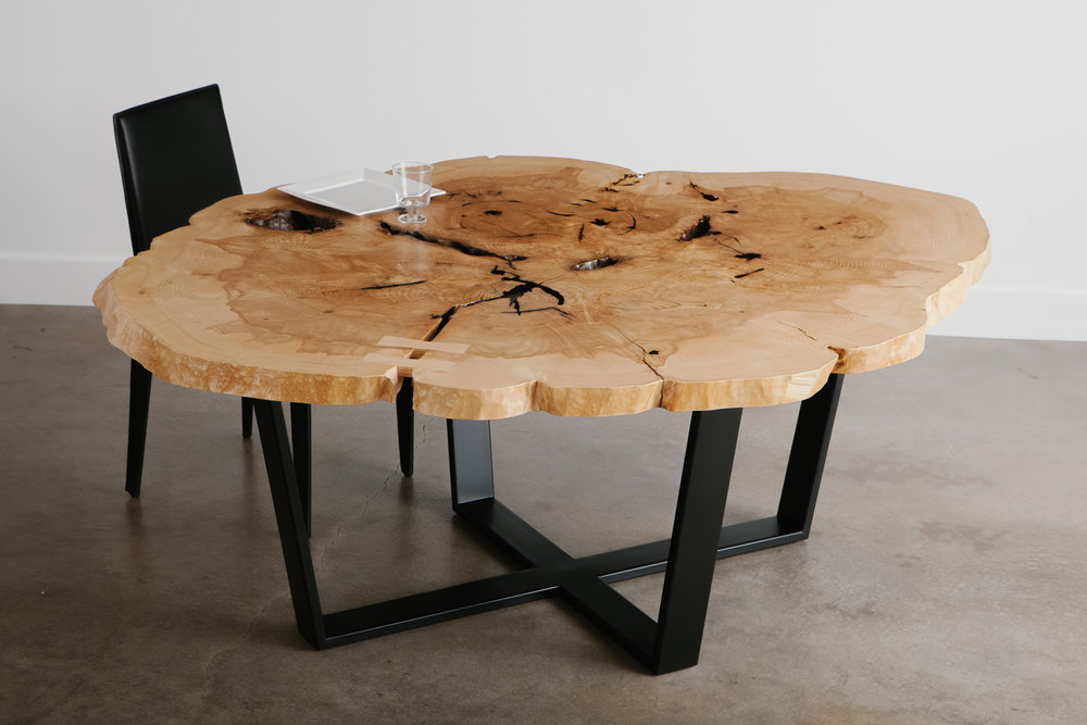 Round Live Edge Dining Table