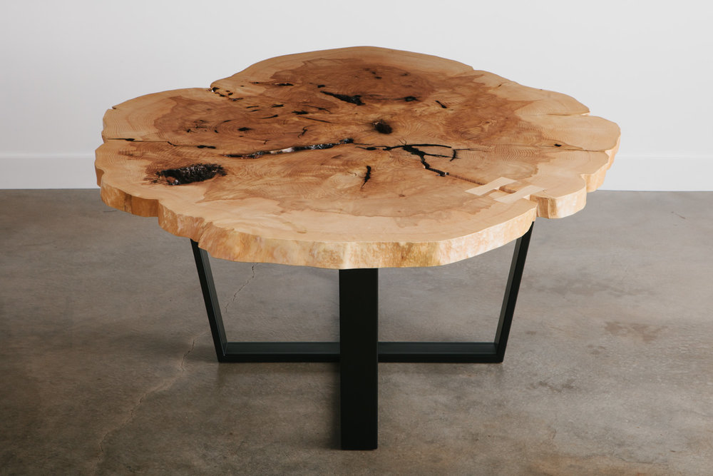 Round Live Edge Conference Table
