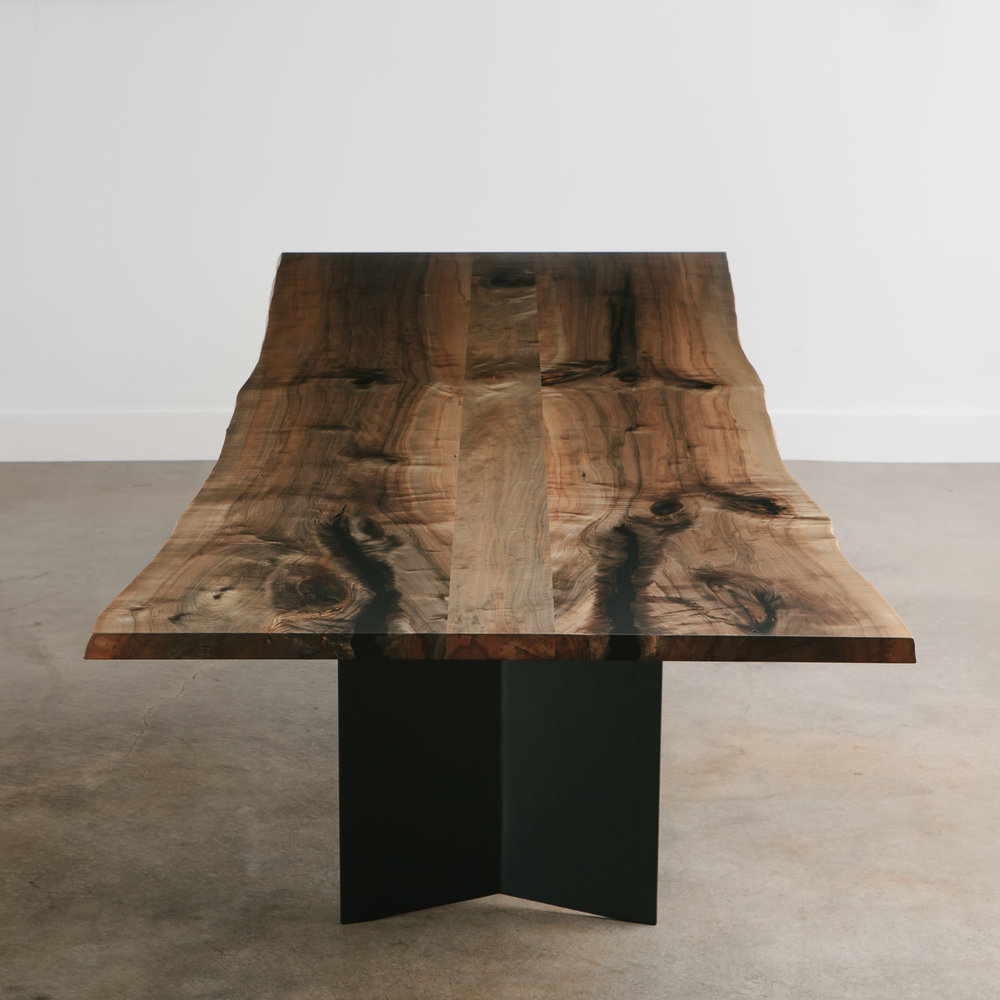 The finished table in the Elko showroom.