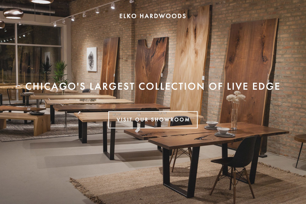 Chicago's largest collection of live edge - visit our showroom