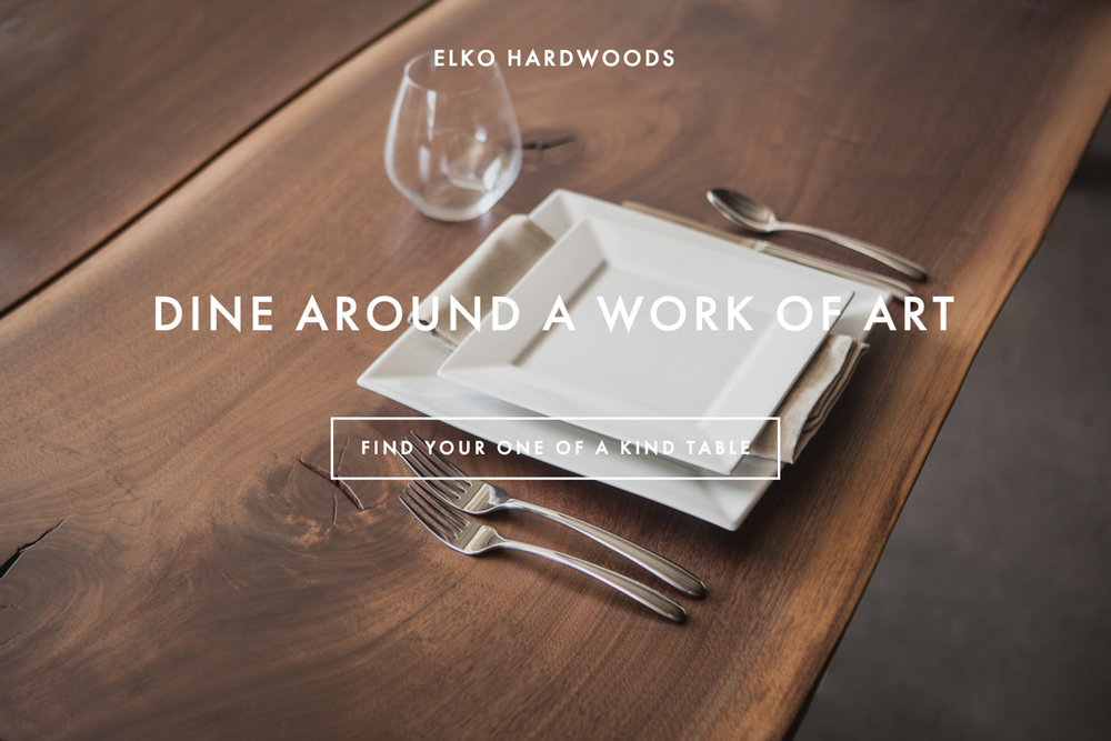 Dine around a work of art - find your one of a kind table