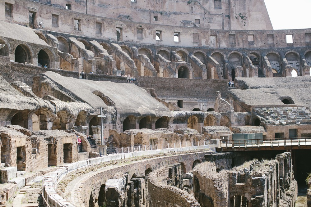 Visiting what we deemed the ancient version of The Hunger Games - the Colosseum.